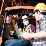 Zabezpieczenie sanitarne wózków widłowych wczasie COVID-19
